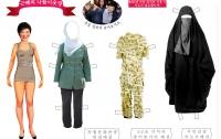 [딴지갤러리]근혜의 중동 나들이 옷장